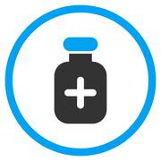 Medication Vial Rounded Icon Stock Illustration