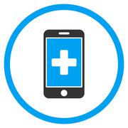Mobile Medicine Rounded Icon - stock illustration