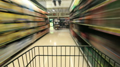 Shopping in grocery store Stock Footage