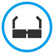 Spectacles Rounded Icon Stock Illustration