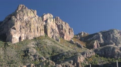 Pan of Desert Mountains at Big Bend National Park in Texas Stock Footage