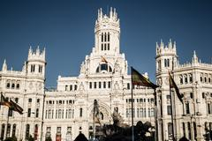 Madrid, Spain - 15, JUNE,2014:Plaza de Cibeles, Madrid, Spain - stock photo
