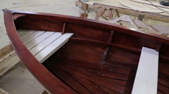 Completed the construction of the boat at the shipyard Stock Footage