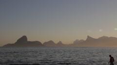 Rio de Janeiro from afar Stock Footage