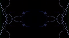 Composited lightning arcs with mirror effect - stock footage