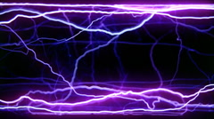 Side view of electricity flowing through a clear tube, shades of blue and purple Stock Footage