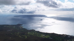 High view of Kahoolawe Island off coast of Maui, Hawaii. Shot in 2010. Arkistovideo