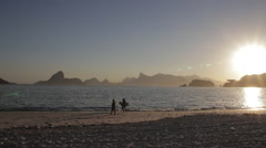 Sunset in Rio seen from Niterói 2 Stock Footage