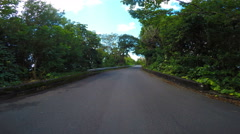 Driving though Tropical Road Arkistovideo