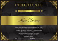 Certificate and diploma template - stock illustration