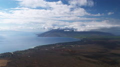 High view of Maalaea Bay, Hawaii. Shot in 2010. Stock Footage