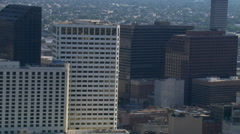 Stock Video Footage of Partial orbit of downtown New Orleans. Shot in 2007.