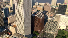 Low orbit of downtown New Orleans. Shot in 2007. - stock footage