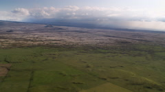Flying above slopes of Mauna Loa, Hawaii. Shot in 2010. Stock Footage