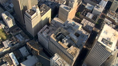 Diagonal flight across downtown New Orleans. Shot in 2007. - stock footage