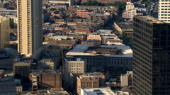 Flight past French Quarter in New Orleans. Shot in 2007. - stock footage