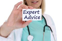 Expert advice doctor nurse medicine disease ill illness - stock photo