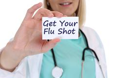 Get your flu shot disease ill illness healthy health doctor nurse - stock photo