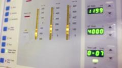 Medical equipment. Hemodialysis machine Stock Footage