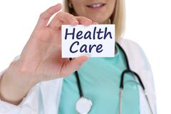 Health care healthcare concept disease ill illness healthy doctor nurse - stock photo