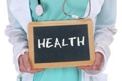 Health care healthcare ill illness healthy doctor - stock photo