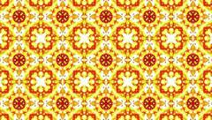 Abstract background. Colorful kaleidoscope flower 4k seamless loopable animation - stock footage