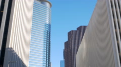 Tilt up to Houston downtown buildings Arkistovideo