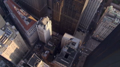 Looking down into Wall Street area. Shot in 2006. Stock Footage