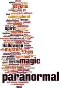 Paranormal word cloud Stock Illustration