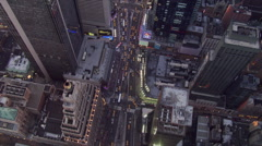 Evening flight over Times Square. Shot in 2006. Stock Footage