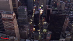 Slow flight over Manhattan at night. Shot in 2006. Stock Footage
