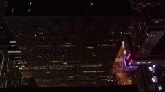 Night flight over New York City . Shot in 2005. Stock Footage
