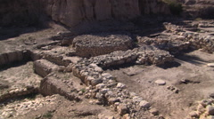 Canaanite altar at Megiddo in Israel Stock Footage