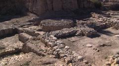 Canaanite altar at Megiddo in Israel Stock Footage