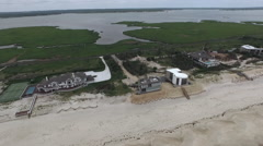 The Hamptons NY State Aerial Footage Stock Footage