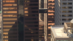 Close flight past layered skyscrapers in downtown Phoenix. Shot in 2007. - stock footage