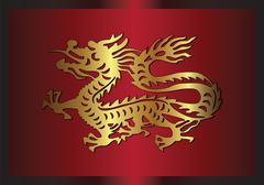 Asian traditional dragon - stock illustration