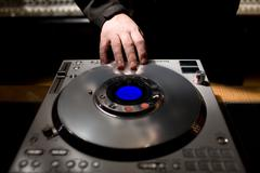 DJ CD player Stock Photos