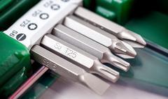 A set of screwdriver bits Stock Photos