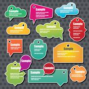Collection of info speech clouds, vector - stock illustration