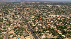 Wide aerial view of Scottsdale, Arizona. Shot in 2007. Stock Footage
