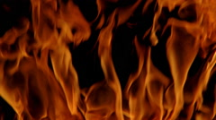 Close-up wavering flames Stock Footage