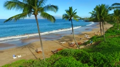 Malauka beach, Maui Stock Footage