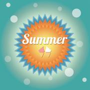 Summer holiday card, vector - stock illustration
