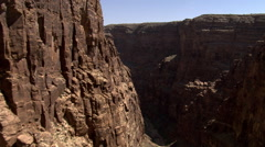 Flying past cliffs in Arizona's Little Colorado River Gorge Stock Footage