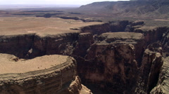 Wide aerial view of Arizona's Little Colorado River Gorge Stock Footage