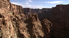 Flight approaching canyon wall in Arizona's Little Colorado River Gorge Stock Footage
