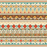 Aztec tribal pattern in stripes Stock Illustration