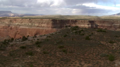 Flight over Cummings Mesa to view Wetherill Canyon in Arizona Stock Footage