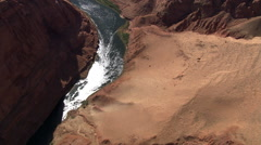 Widening aerial view of Arizona's Marble Canyon - stock footage